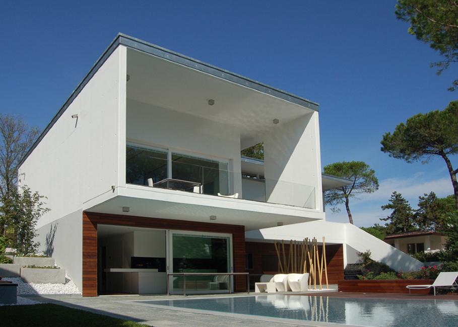 5 out for Villa moderna progetto