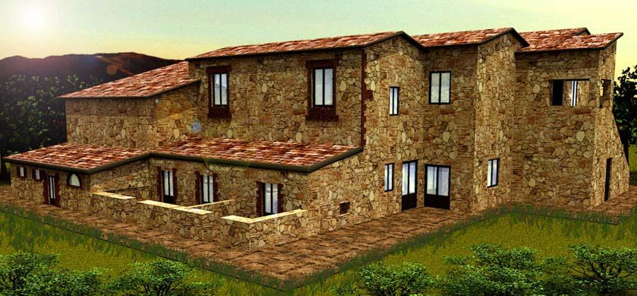 Immagine in primo piano del progetto social housing in for Piani casa bungalow bassa campagna