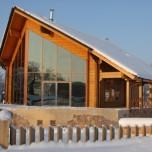 casa legno inverno