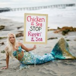 Chicken of the Sea Mermaid Protest in California
